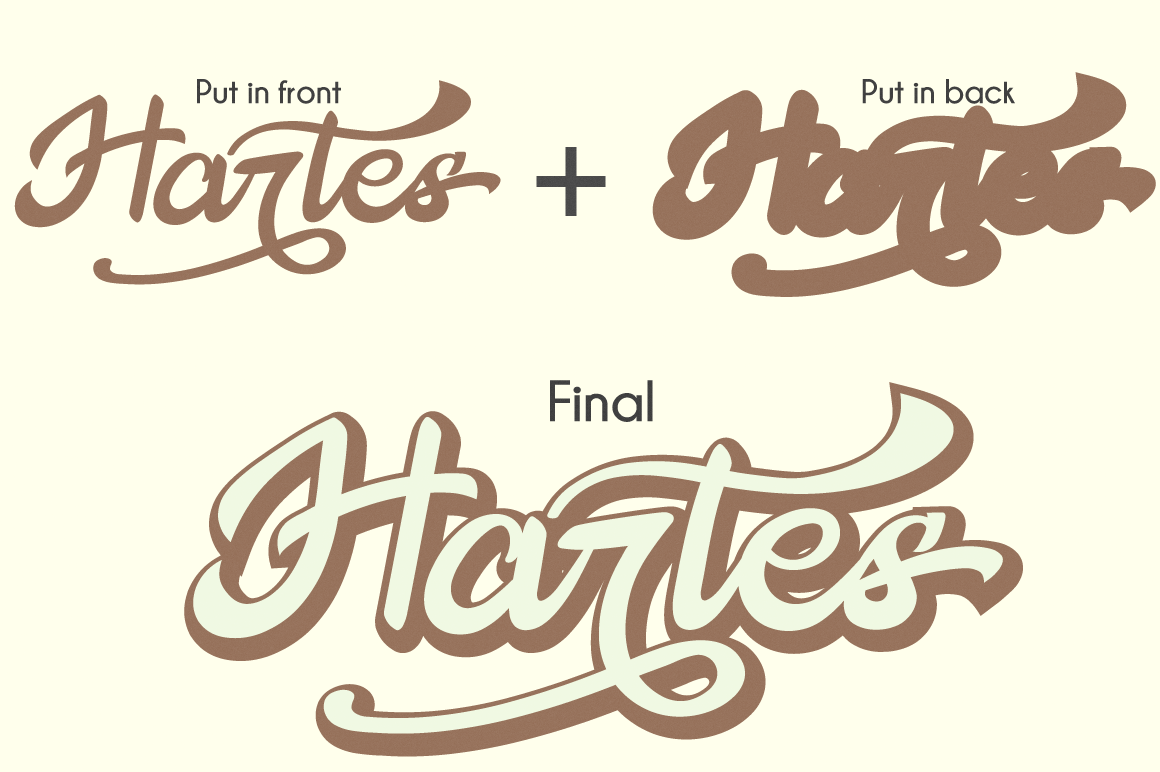 The Hartes Extrude Font example image 2