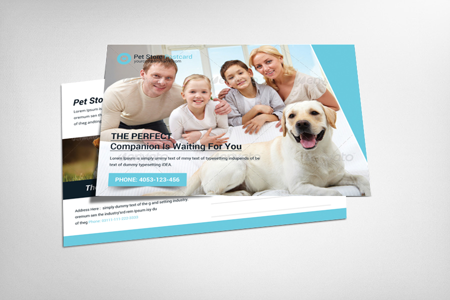 Pet Store Postcard Template example image 1
