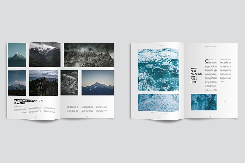 clean  u0026 modern minimalist magazine layout
