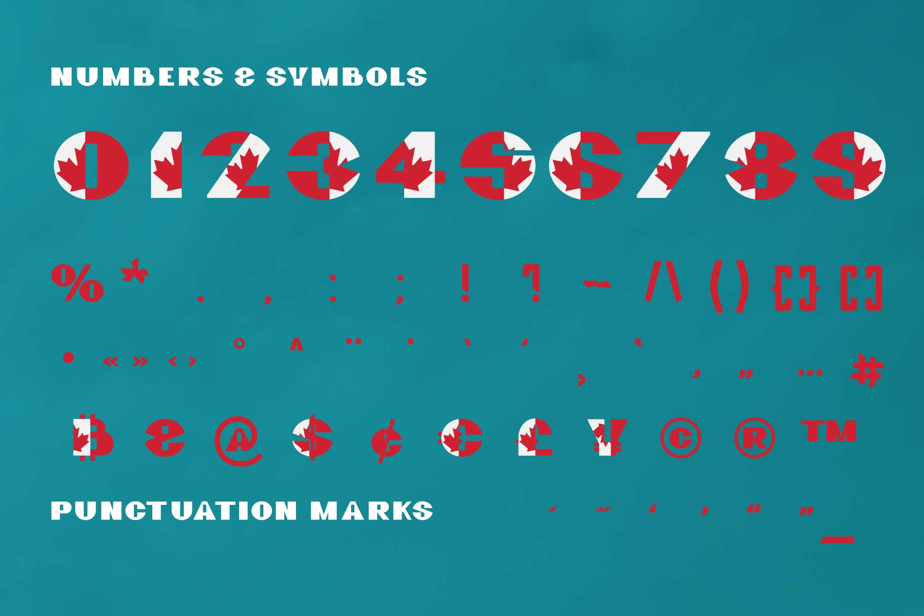 GreatCanadian-font family example image 3