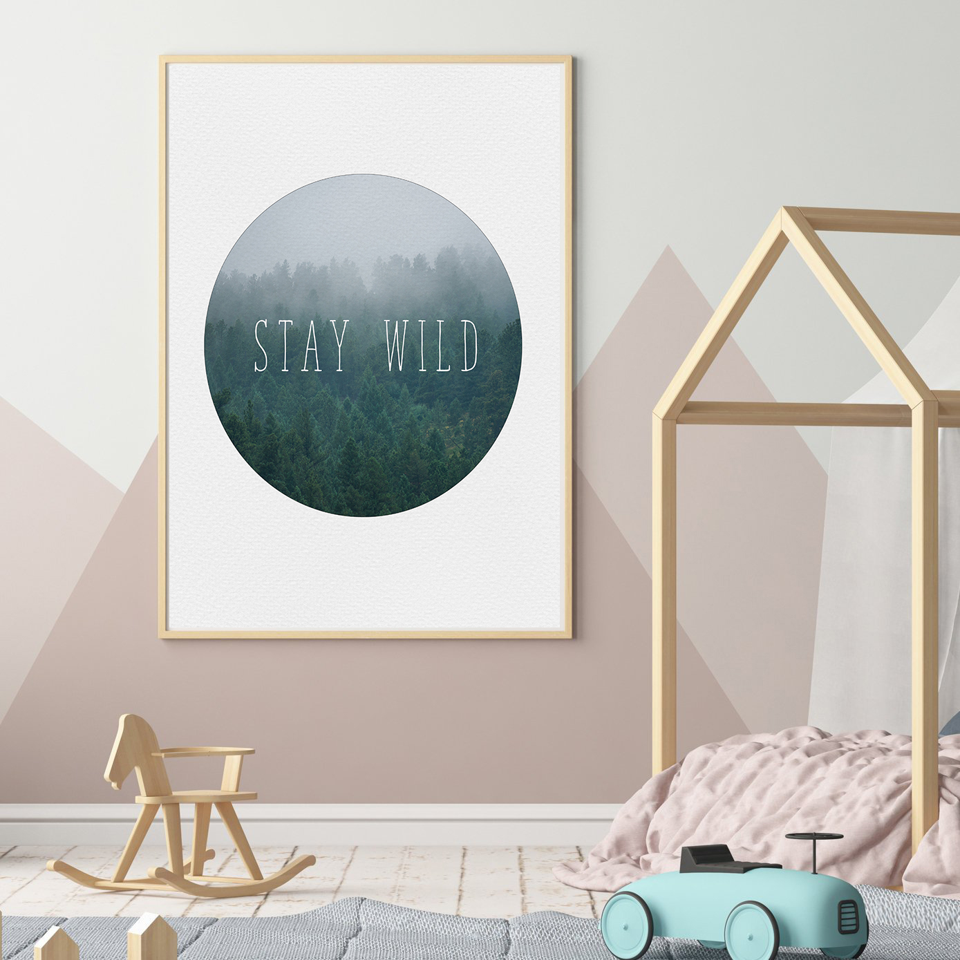 Boy Room Wall Art, Stay Wild Print, Baby Boy Wall Art example image 2