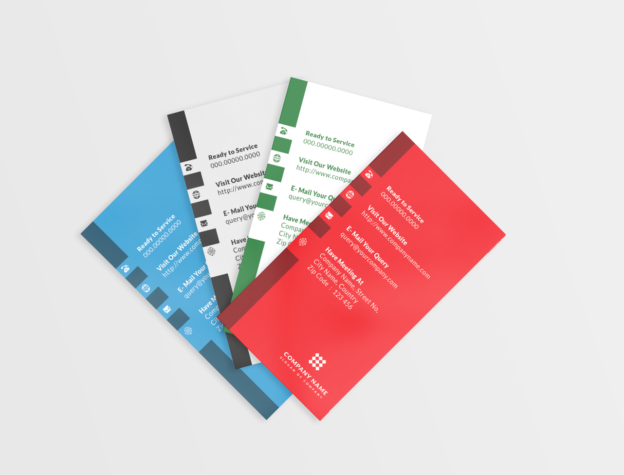 4 Solid Color Vertical Business Card example image 2