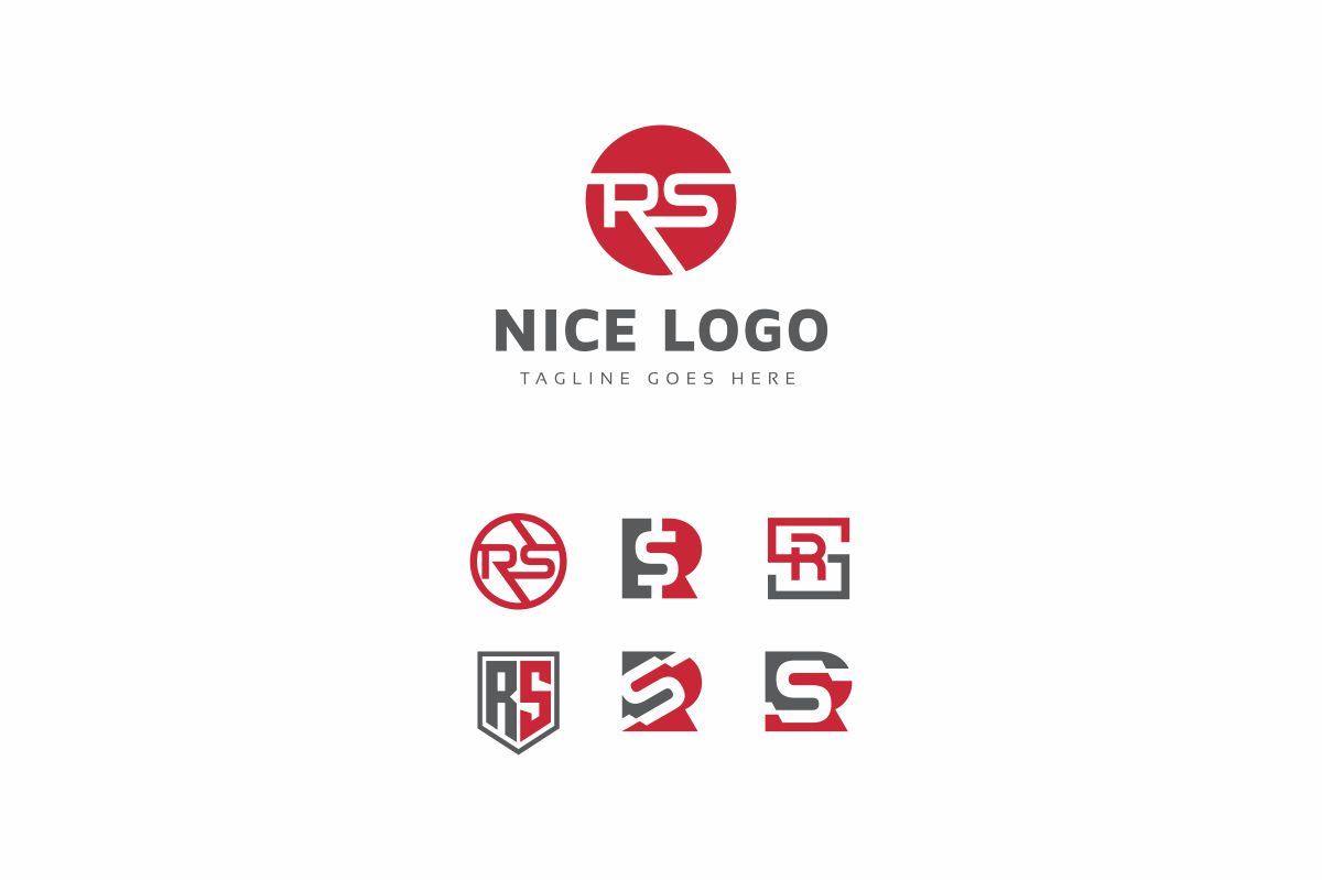 R Letter Set Logo example image 3