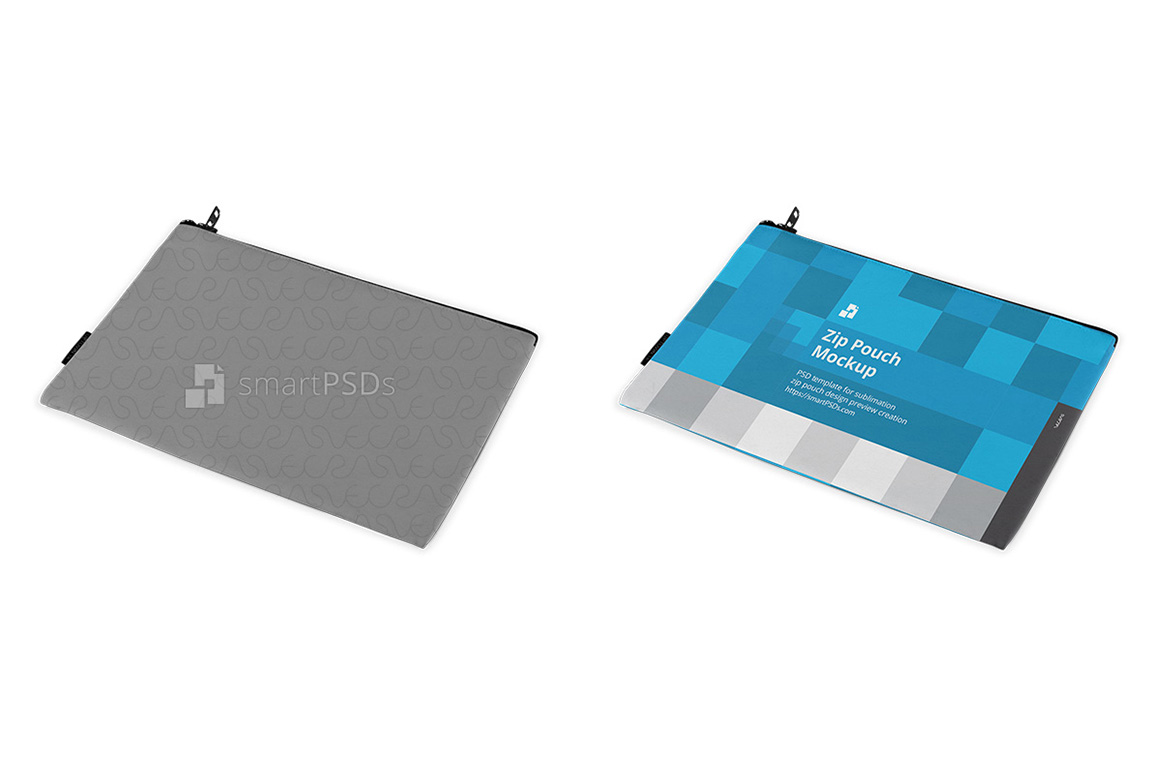 Zip Pouch Sublimation Design Mockup - 4 Views example image 2