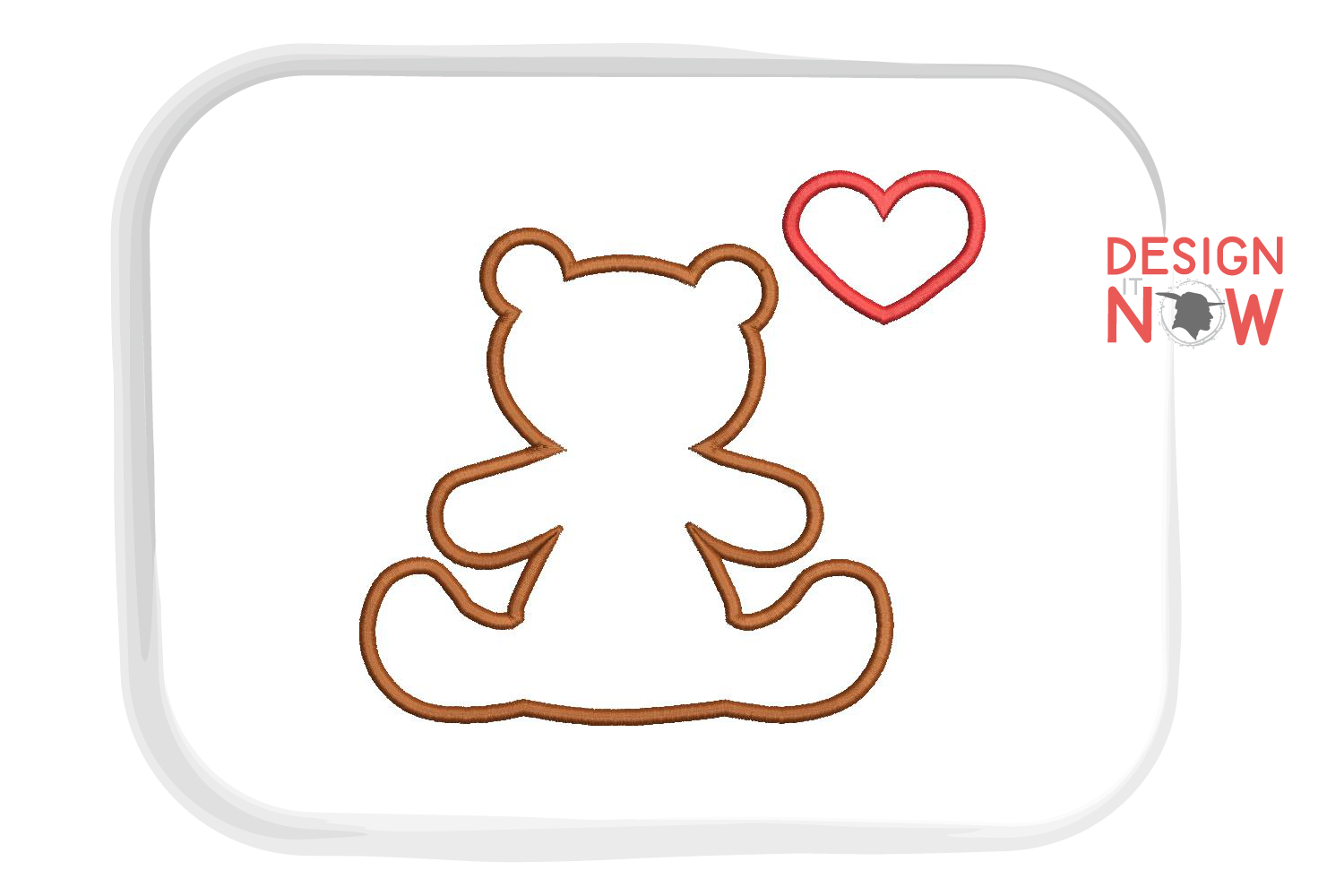 Bear Applique Embroidery Design, Baby Embroidery Pattern example image 3