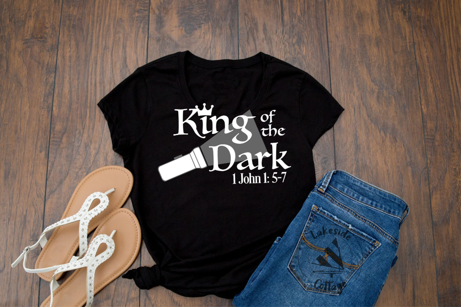 King of the Dark Religious Christian Bible SVG Design example image 2