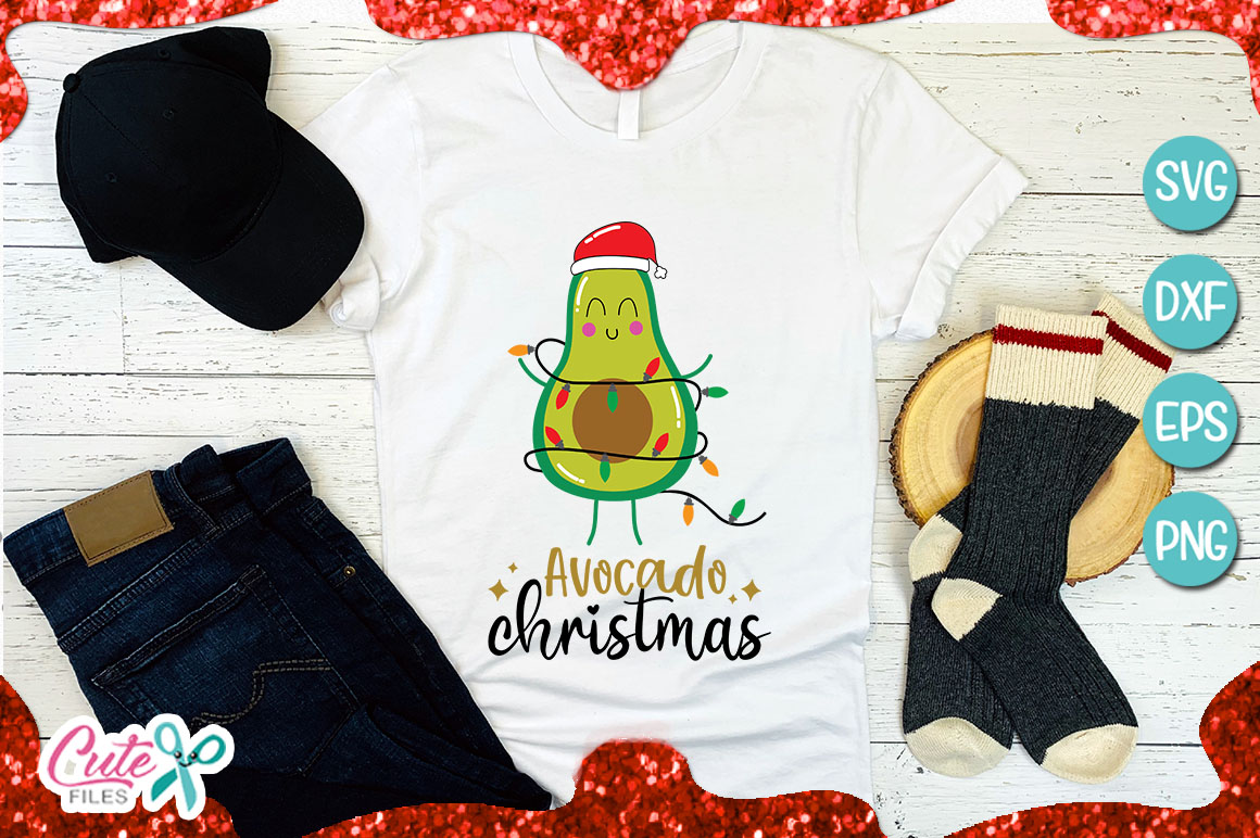 Avocado christmas tree SVG for crafter example image 2