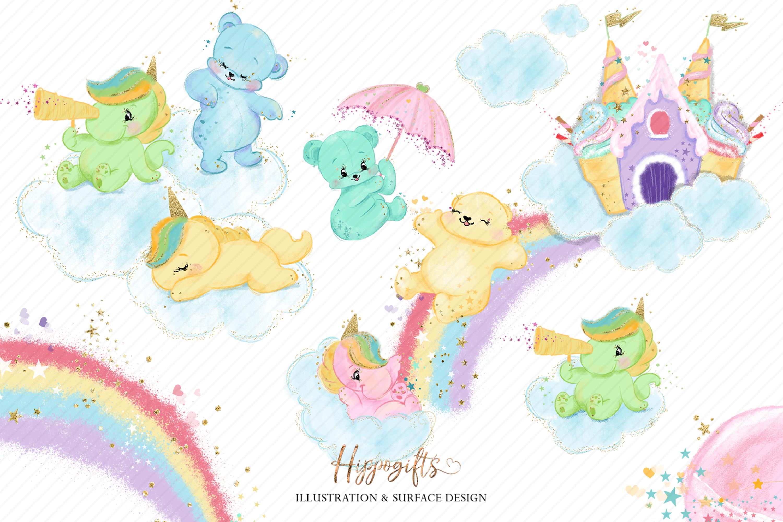 Bears and unicorns clip art example image 7