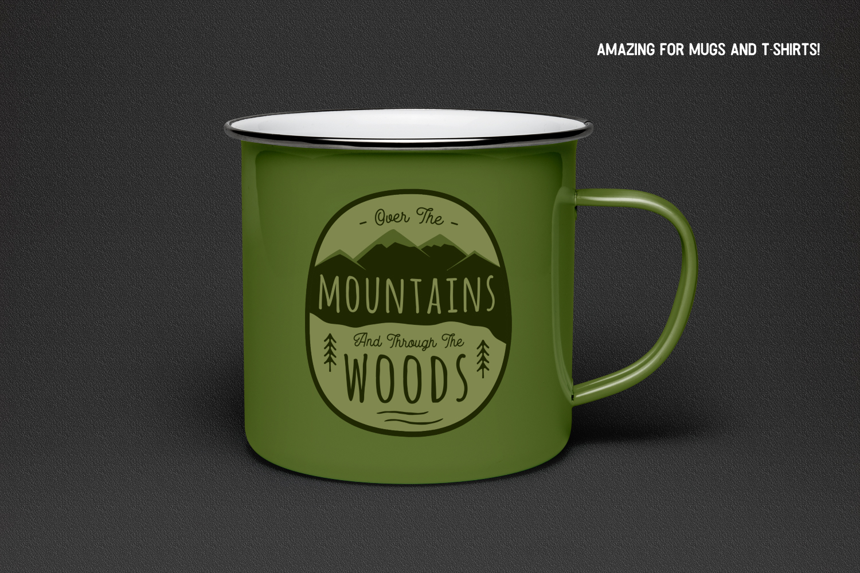 Retro Mountains Adventure Badge / Vintage Travel Logo Patch example image 2