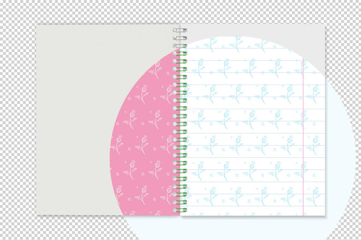 Notebook with spring mockup. Sketchbook mockup. example image 6