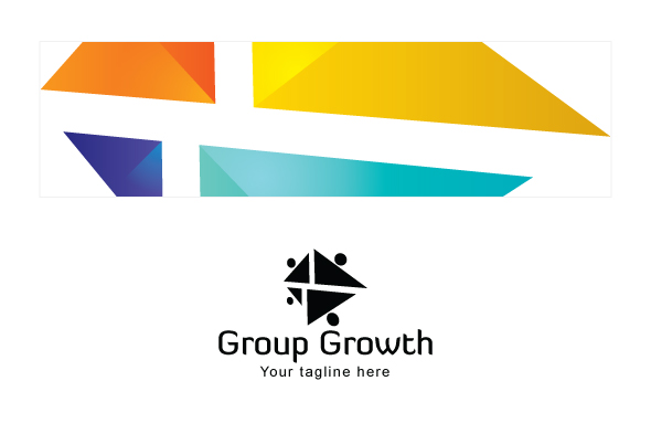 Group Growth - Geometrical Stock Logo Template for Various example image 3