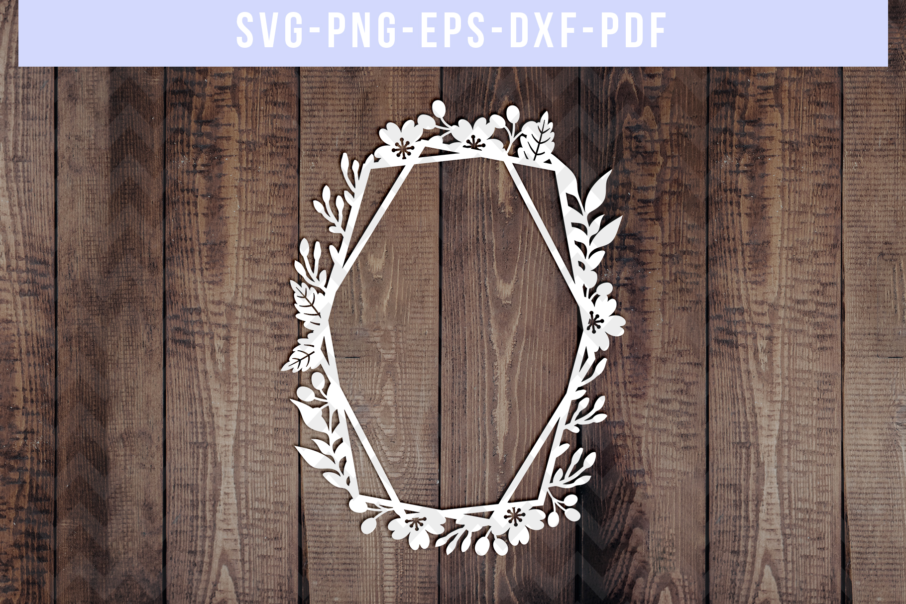 Bundle Of 9 Geometric Frame Papercut Templates, SVG, PDF DXF example image 7