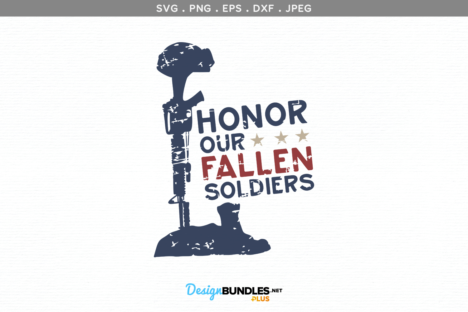 Honor our Fallen Soldiers - svg, printable example image 2