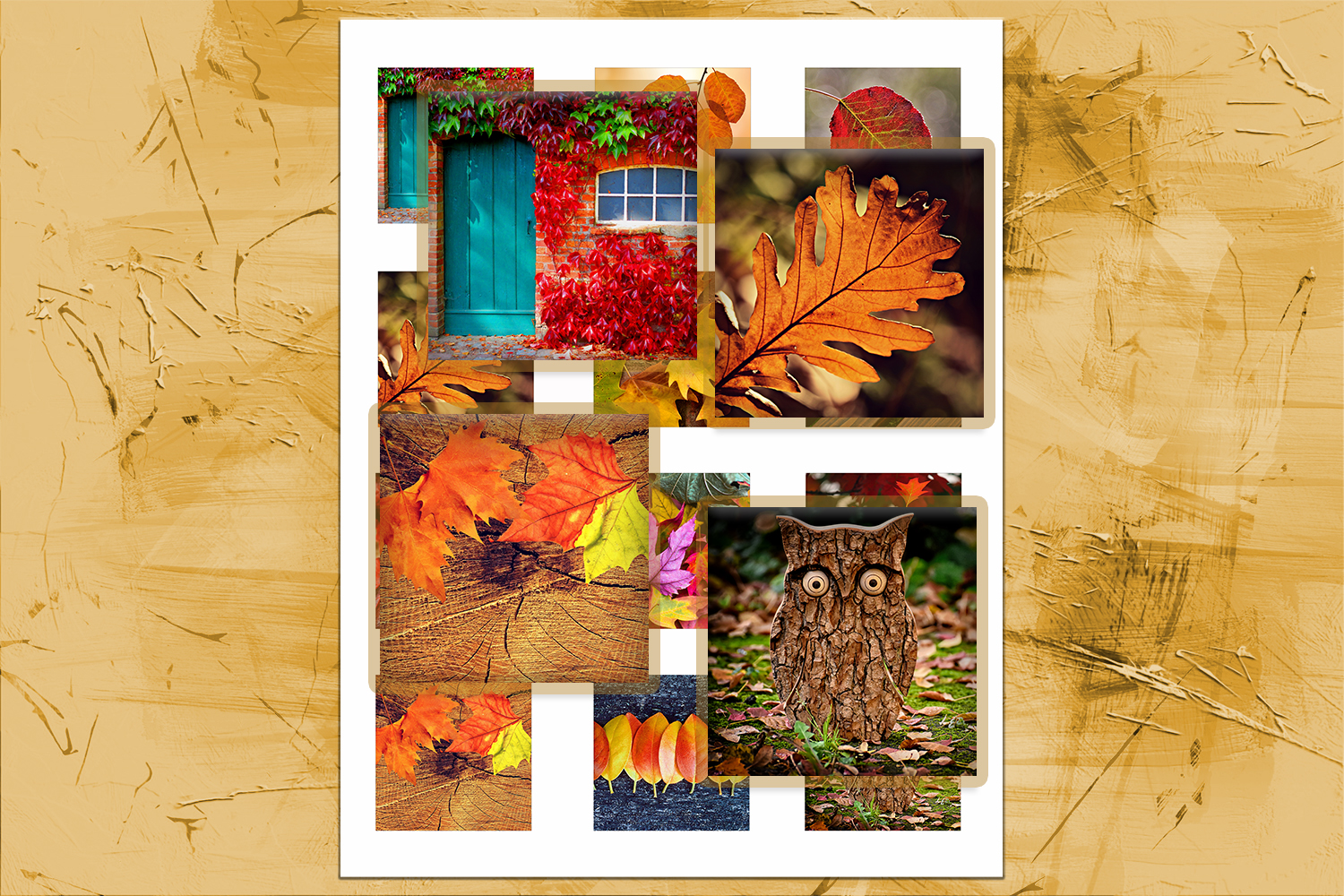 Fall Leaves, Digital Collage Sheet, Printable Images,SALE example image 2