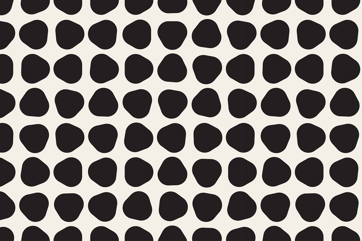 Seamless geometric patterns. 3 colors example image 10