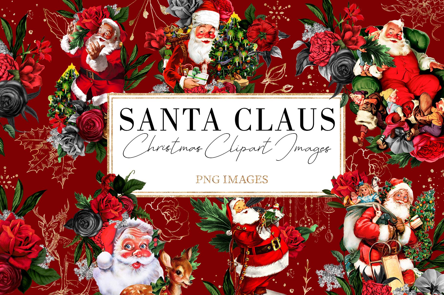 Santa Claus | 54 Clipart Elements example image 1