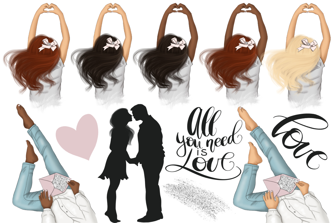 All You Need Is Love Graphic Design KIt example image 7