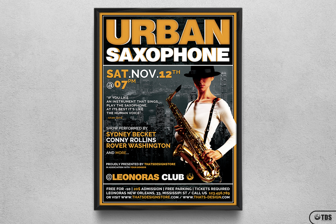 Urban Sax Flyer Template example image 6