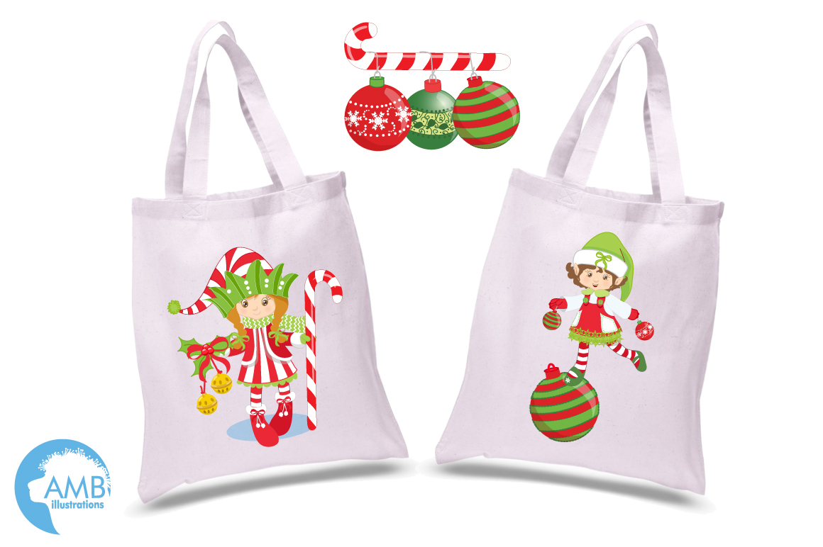Christmas elves clipart, graphics, illustrations AMB-195 example image 3