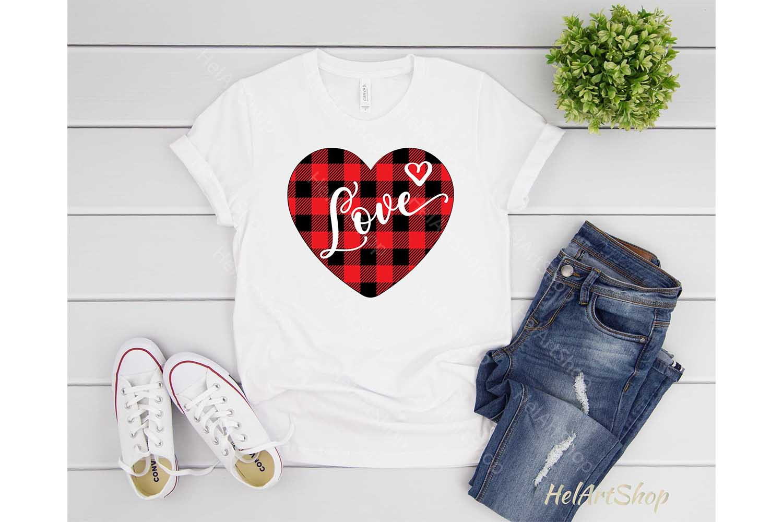Plaid Heart svg, Valentine svg, Valentines day svg, Love example image 2
