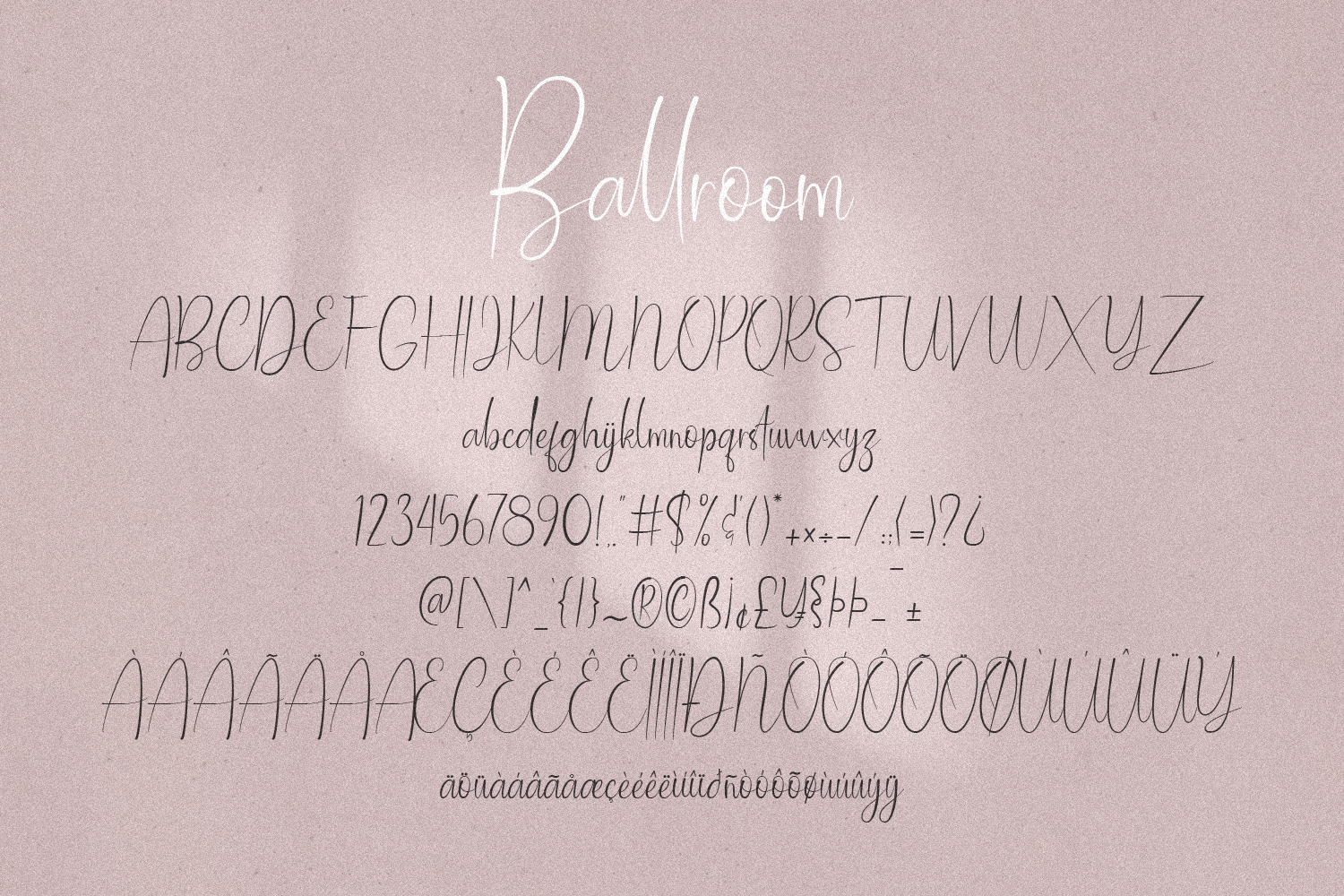 Ballroom Font With 100 Ligatur example image 7