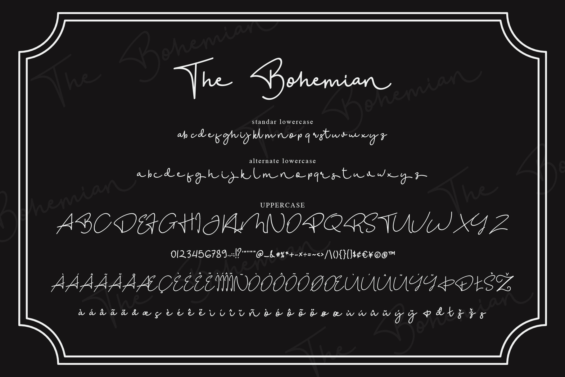 The Bohemian - a Signature Font example image 7