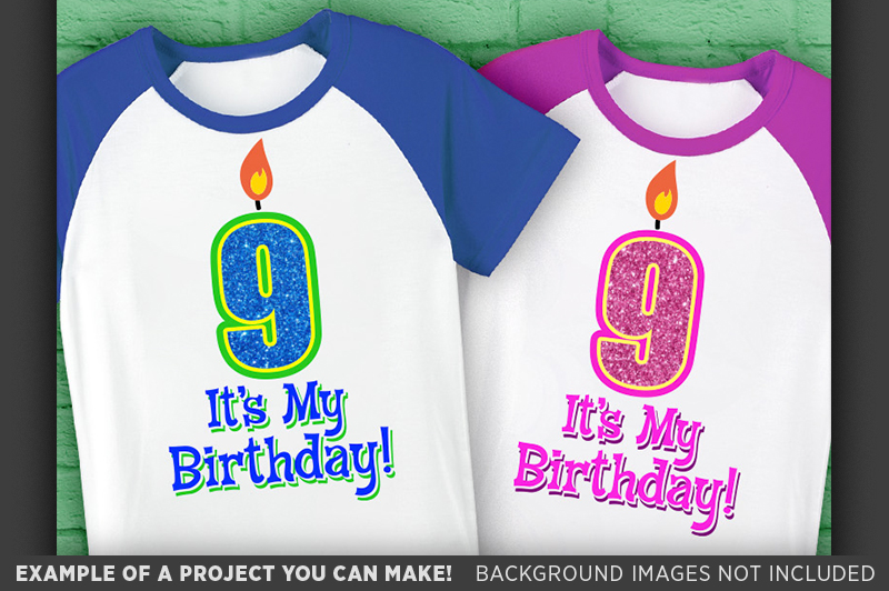 9th Birthday Svg - Its My Birthday SVG Birthday Shirt - 1036 example image 2