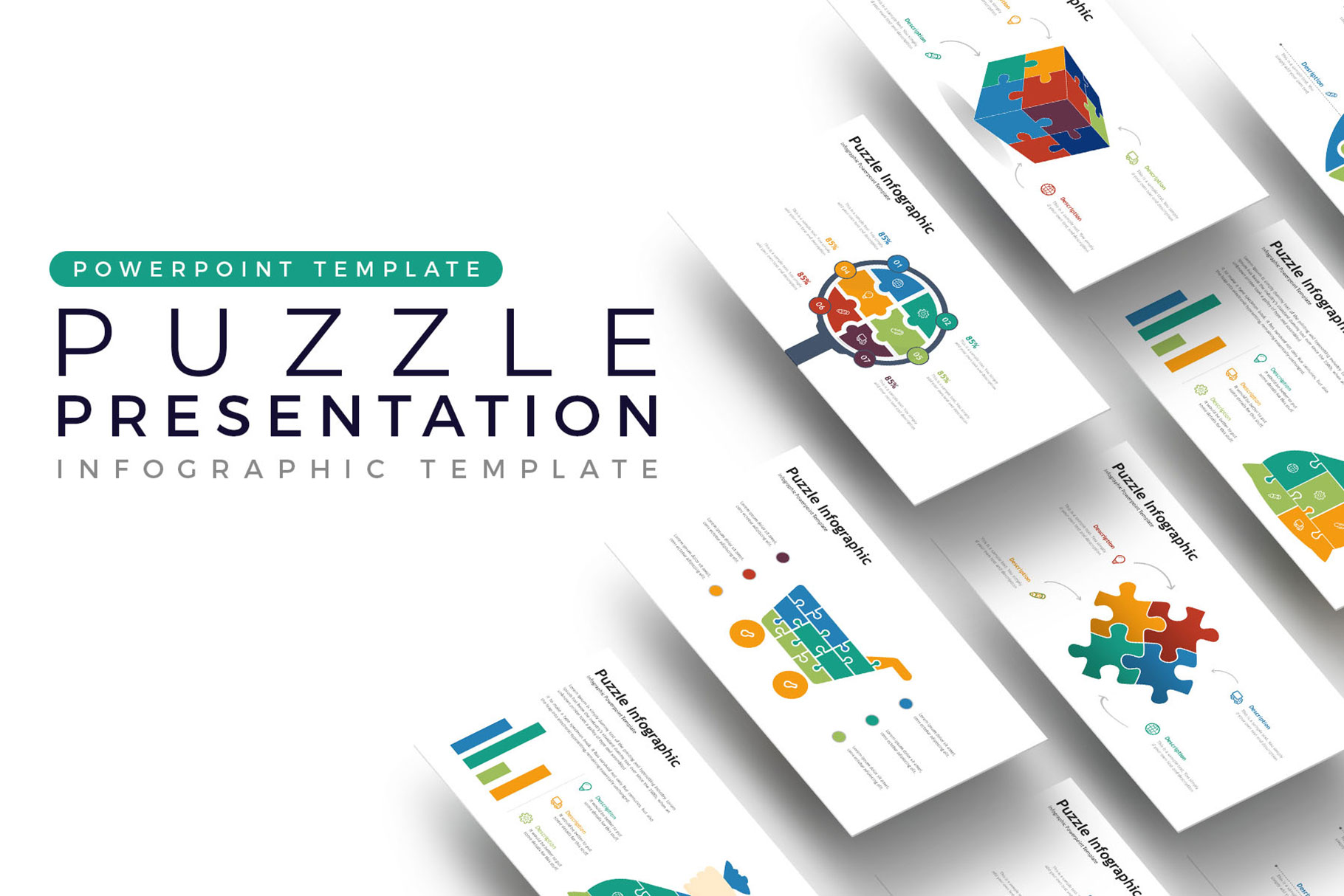 Puzzle Presentation - Infographic Template example image 1
