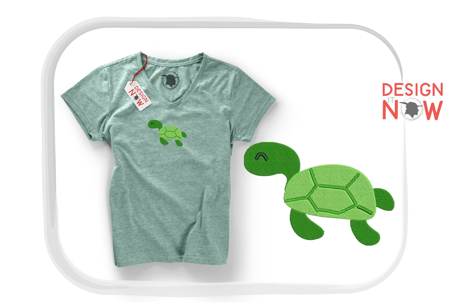 Turtle Embroidery Design, Turtle Embroidery Pattern, Sea example image 4