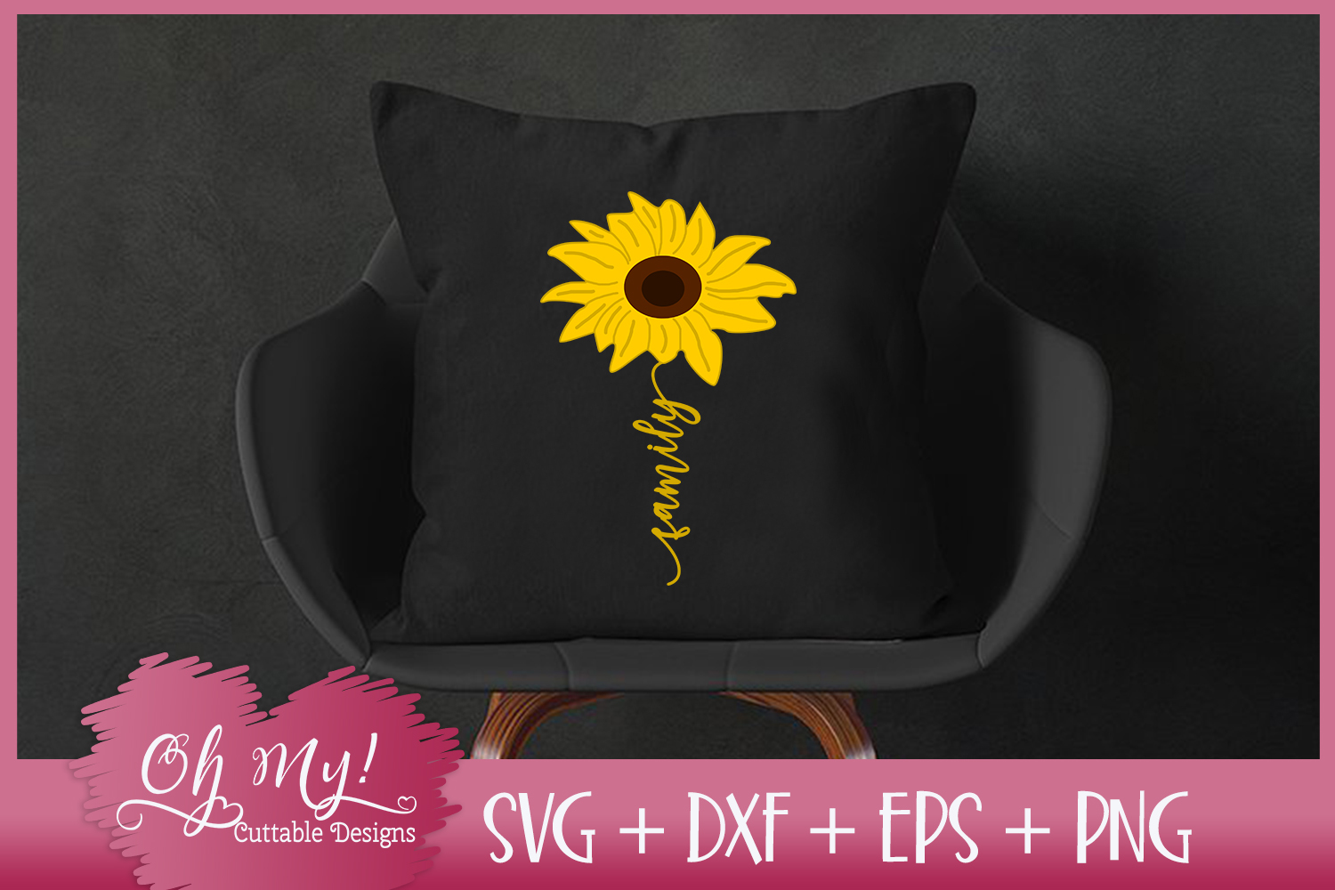 Family Sunflower - SVG EPS DXF PNG Cutting File example image 1