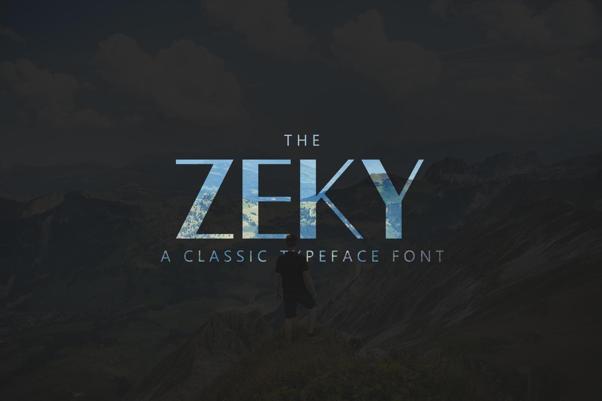 Zeky Typeface Font example image 1