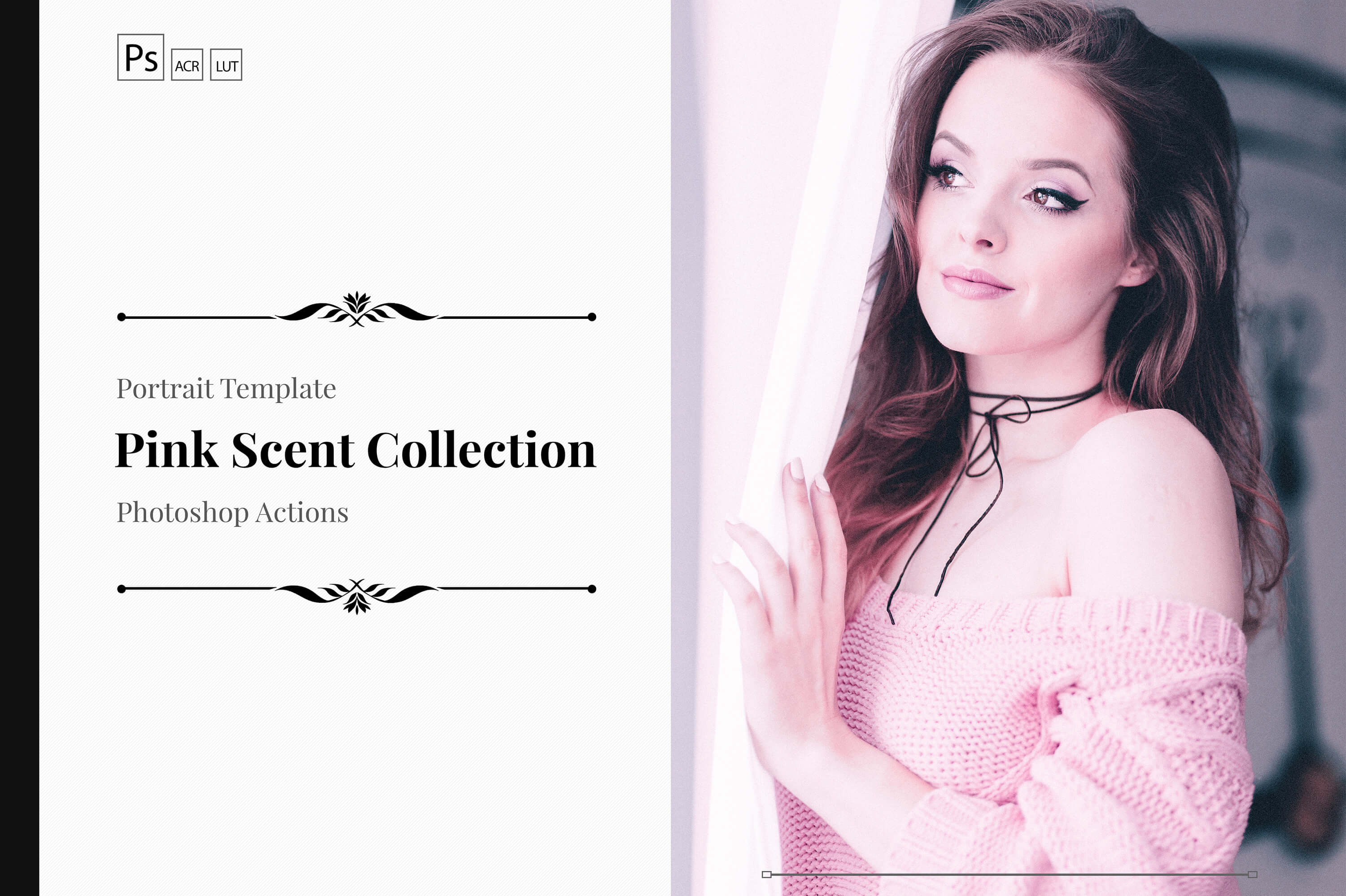 Neo Pink Scent Color Grading photoshop actions example image 1