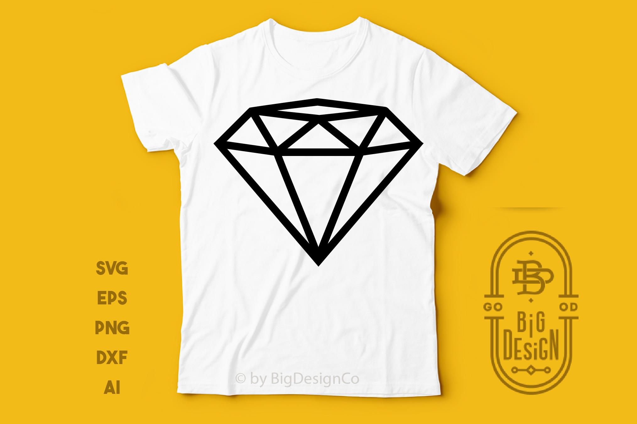 Diamond SVG Cut File , Diamond outline , Engagement Party example image 2