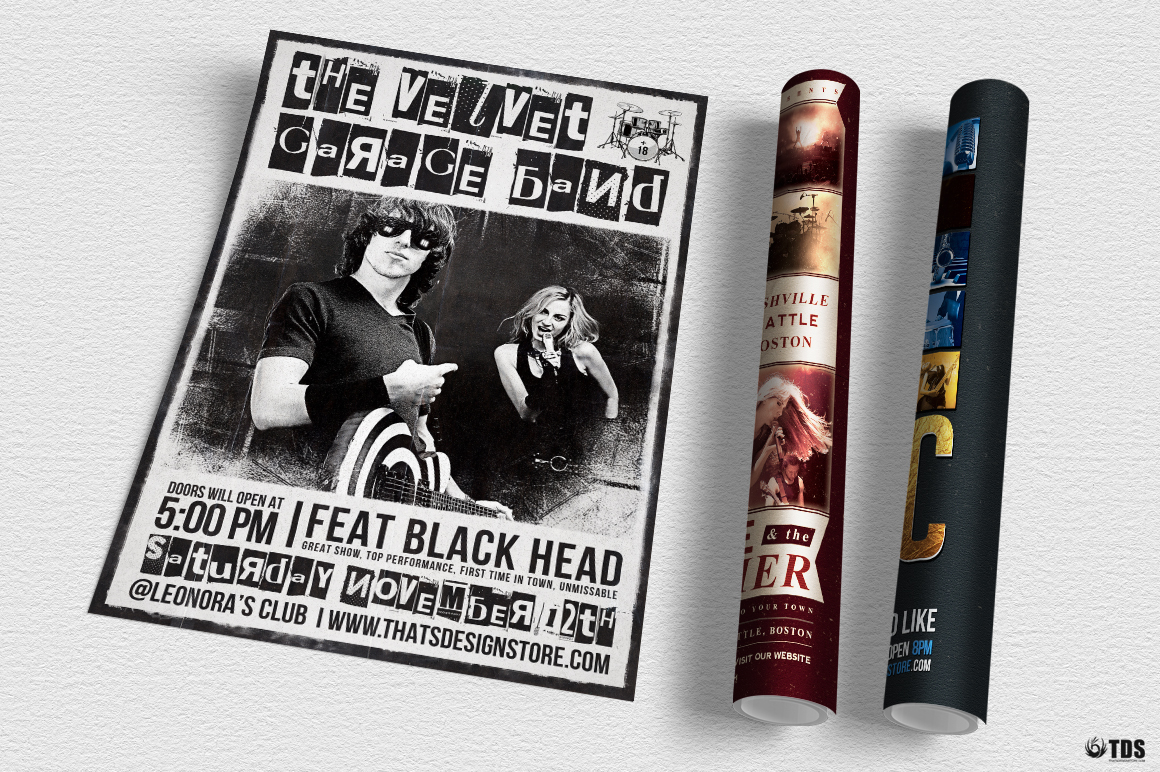 Live Band Flyer Bundle V2 example image 5