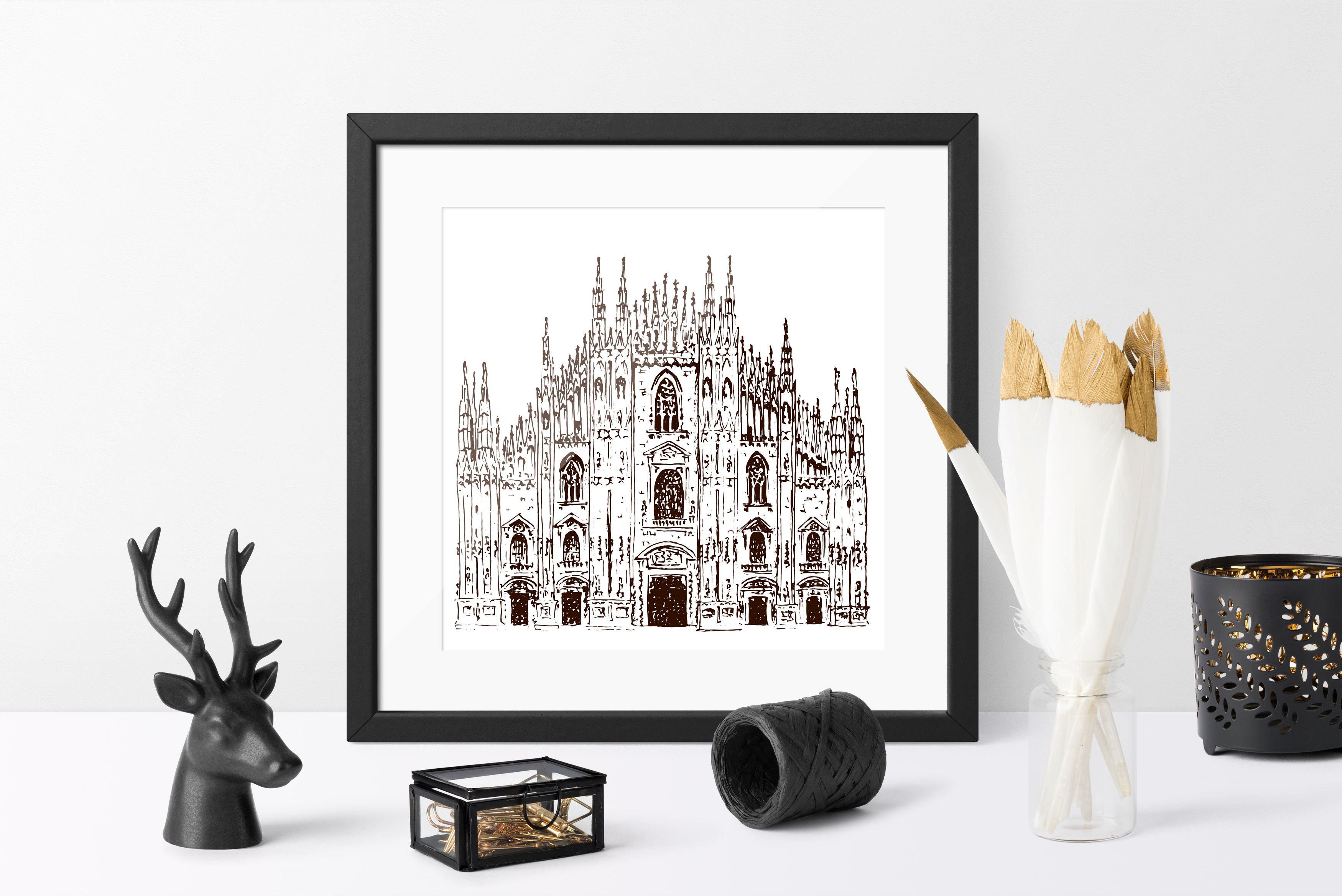 Set of Milan sketches example image 2