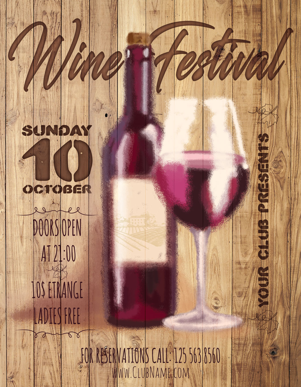 Wine Festival Flyer example image 3