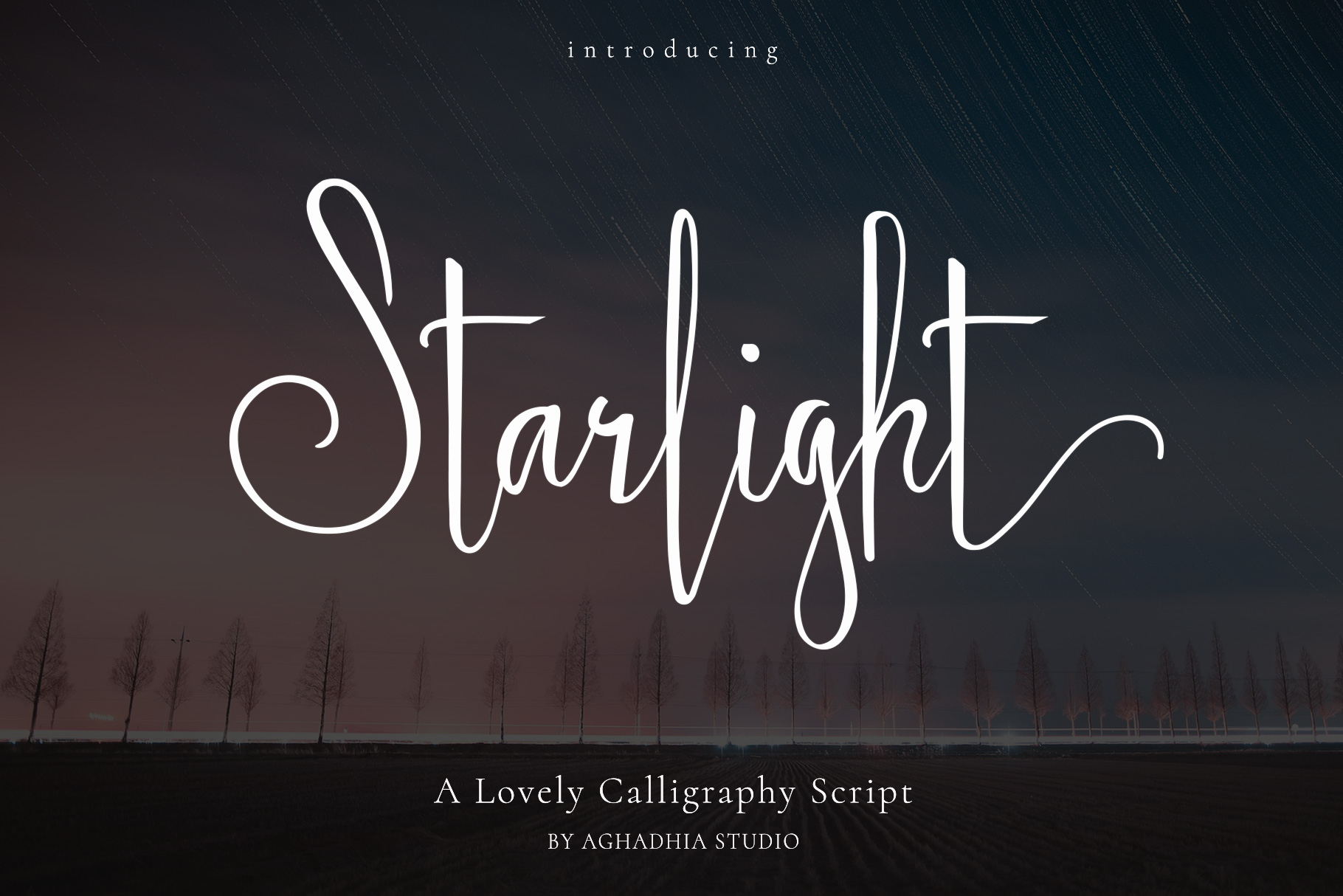 Starlight - Lovely Calligraphy Font example image 1