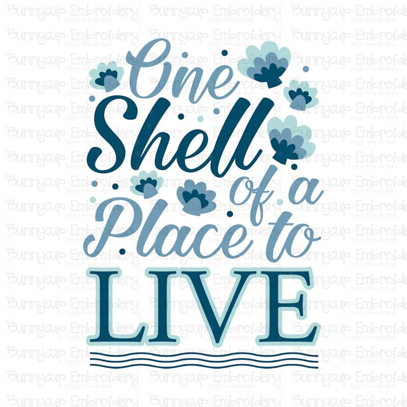 One Shell Of A Place To Live - SVG, Clipart, Printable example image 2
