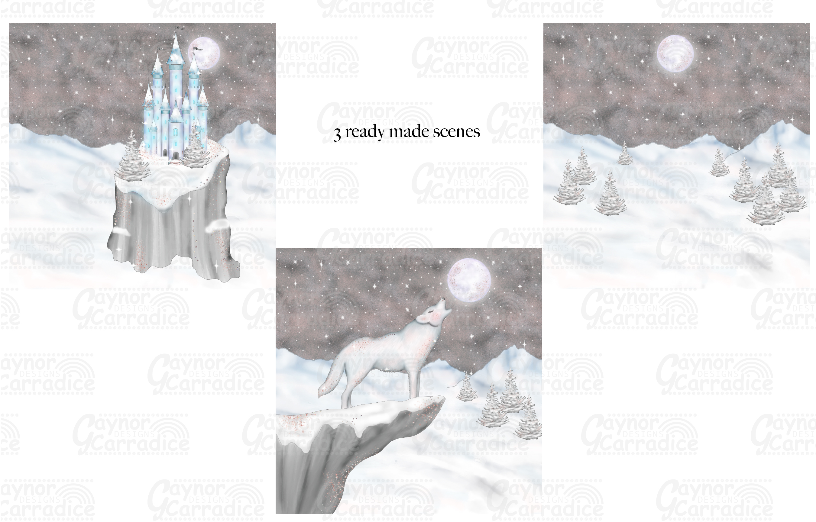 A Winters Tale- Ice Princess Fairy tale Clipart example image 5