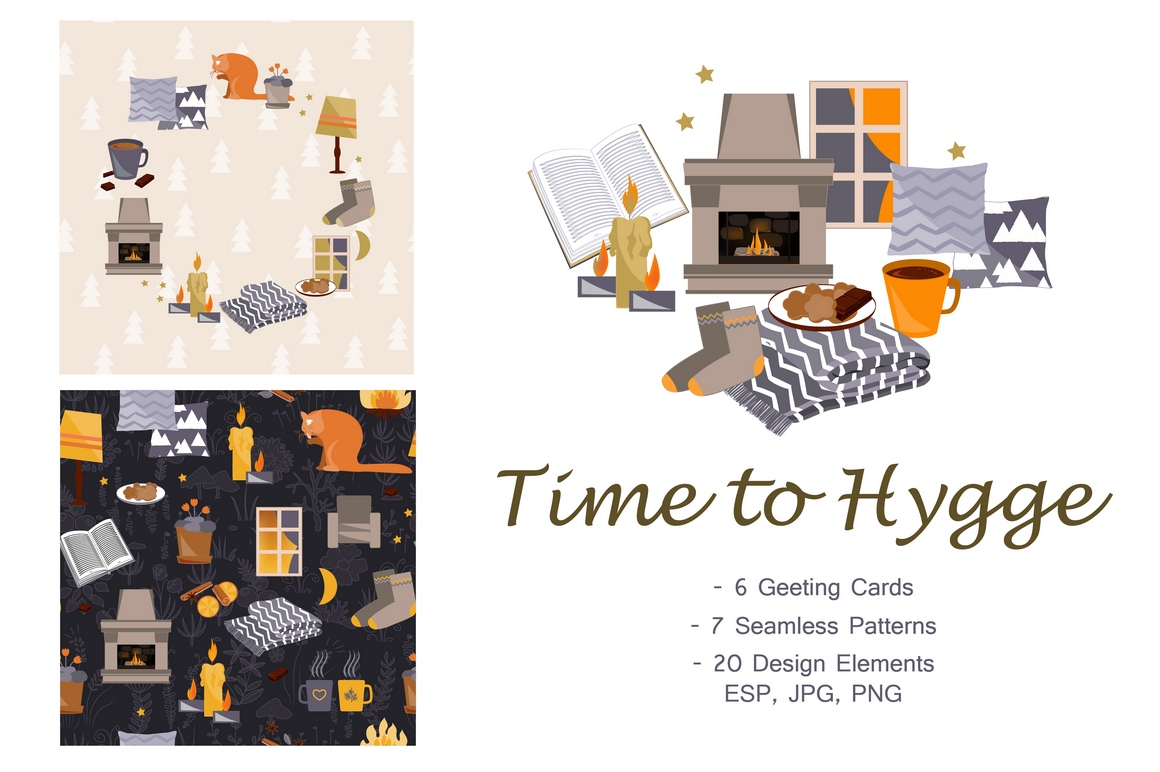 Time To Hygge. Vector Collection example image 1