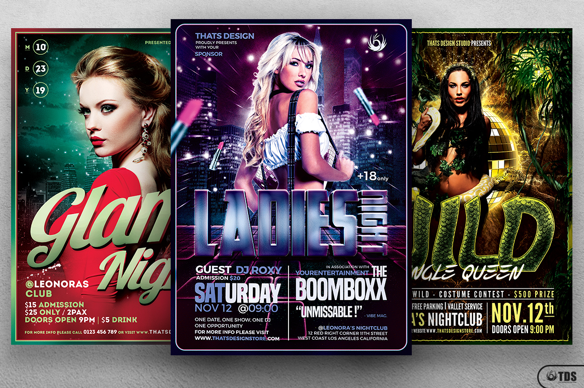 Ladies Night Flyer Bundle V2 example image 3