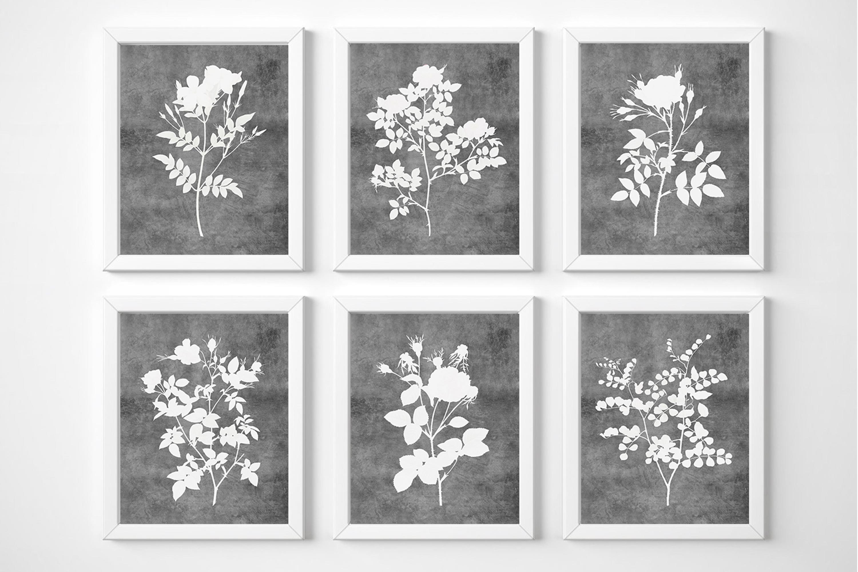 Gallery Wall Set Prints, Flowers Printable Wall Art example image 1