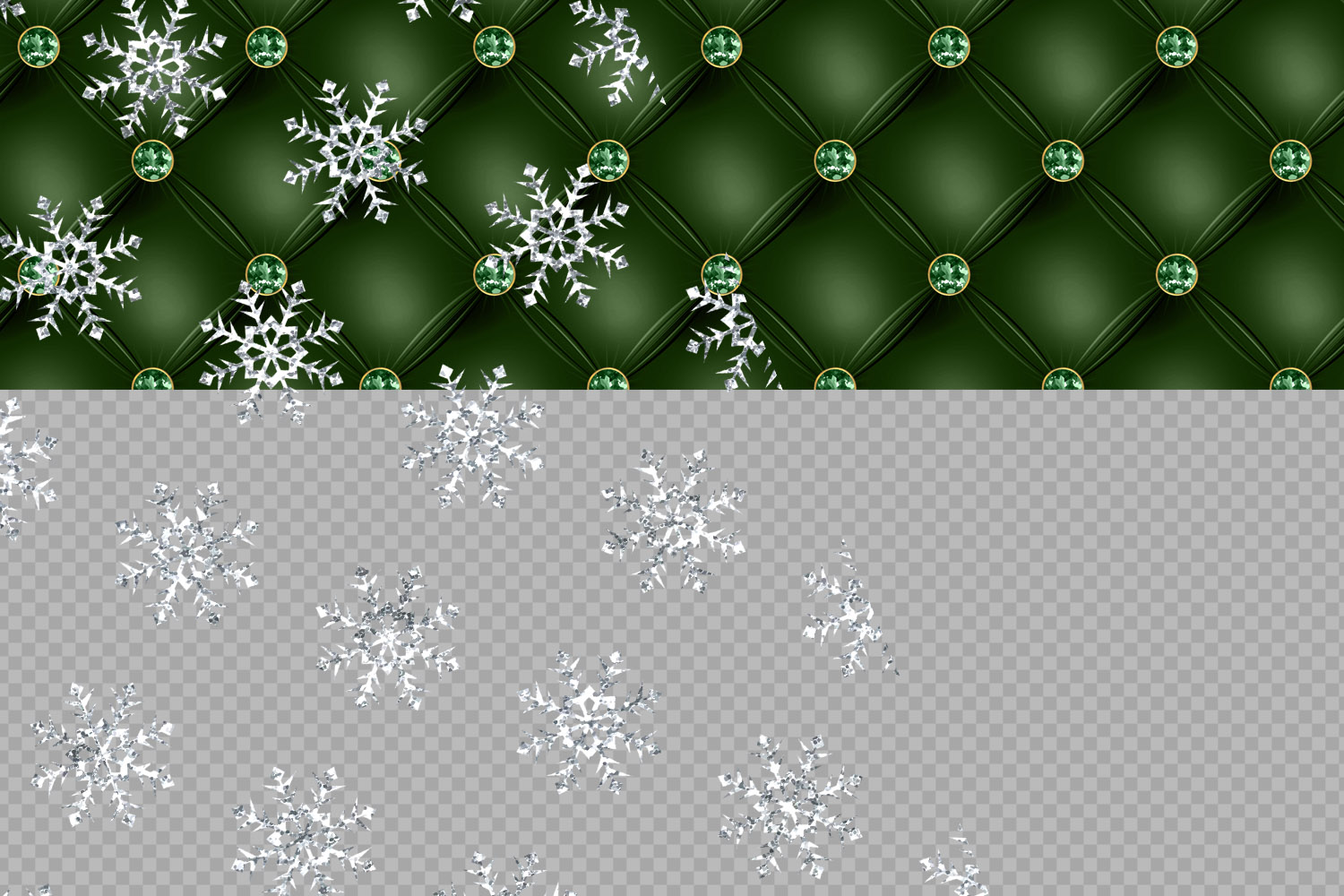 Tufted Christmas Digital Paper example image 5