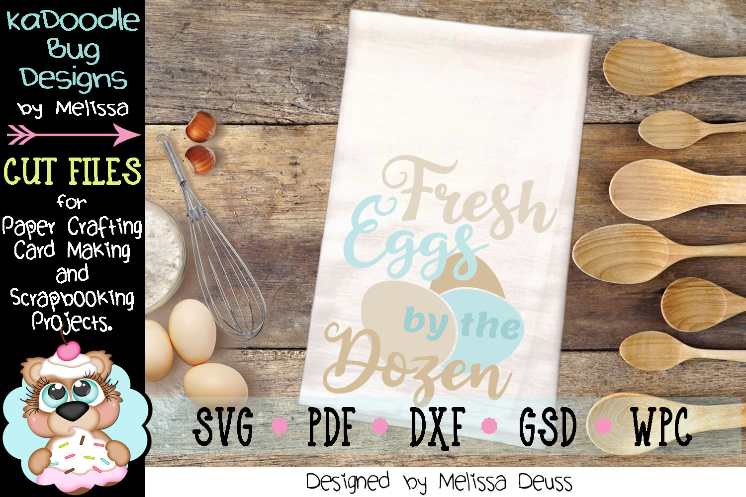 Fresh Eggs by the Dozen Vertical Cut File - SVG PDF DXF GSD example image 3