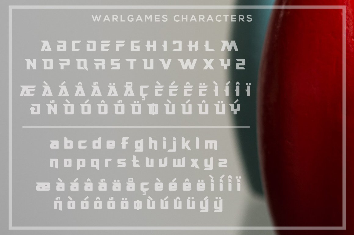 WarlGames Font example image 5