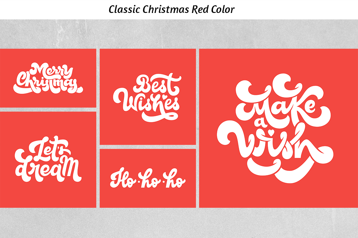Christmas Lettering set example image 6