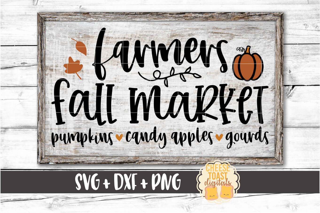 Farmers Fall Market - Fall Sign SVG PNG DXF Cut Files example image 1