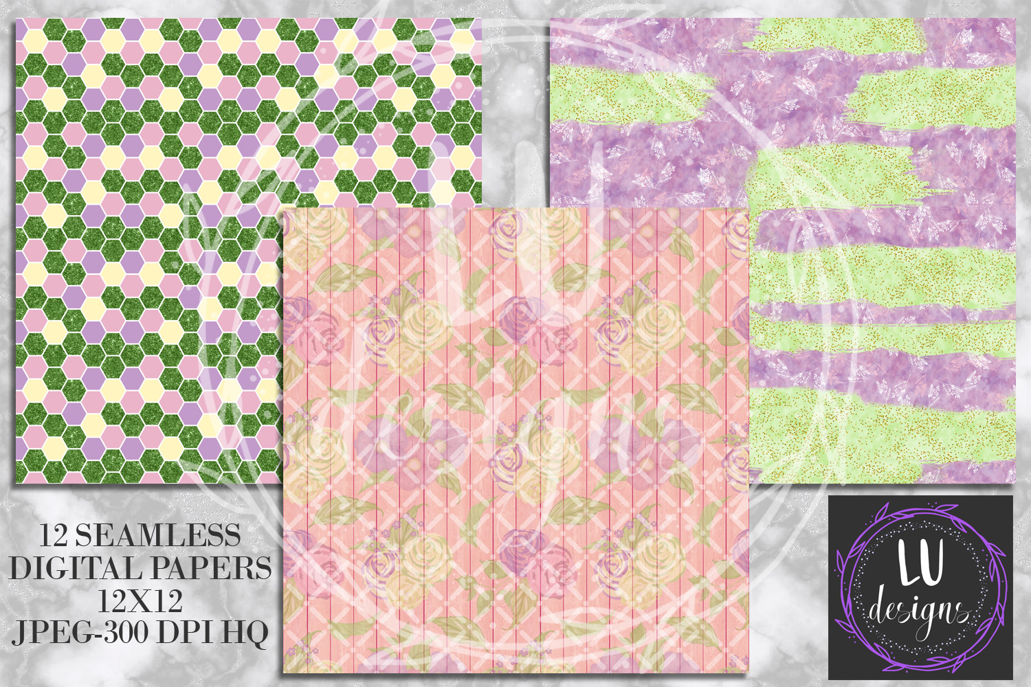 Spring Digital Papers, Spring Backgrounds, Garden Scrapbook example image 5