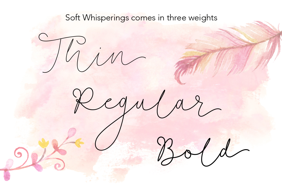 Soft Whisperings wedding font example image 2