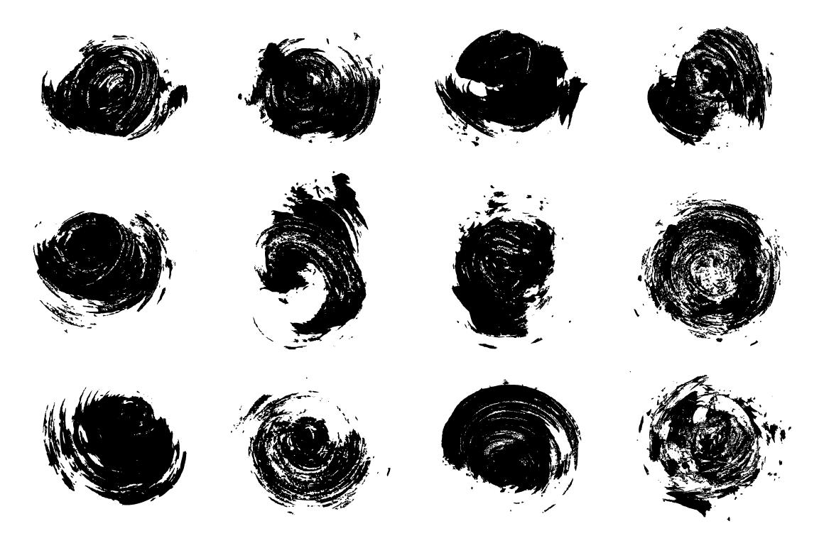 24 Grungy Circles example image 4